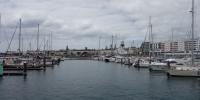 Přístav v Pontě Delgadě, odkud výpravy na sledování velryb vyrážejí.