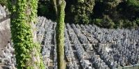 Hřbitov po cestě ke chrámu Kiyomizu-dera
