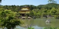 Zlatý pavilon (Kinkaku-dži), asi nejslavnější monument v Kyotu