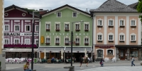 Mondsee pohled na náměstí