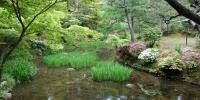 Zahrada patřící ke svatyni Kasuga Taiša
