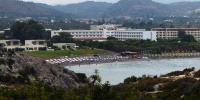 Rhodos - pohled na první pláž směrem k hotelu Marathon detailněji