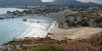 Rhodos - pohled na druhou a třetí pláž v Kolymbii 4