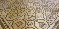 Rhodos město palác velmistů mozaika podlaha