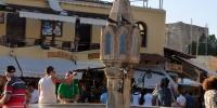 Rhodos město Hippokratovo náměstí fontána Sintrivani