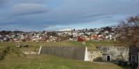 Pohled na Trondheim z pevnosti Kristiansten