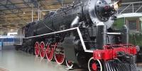 Jedna z lokomotiv v železničním muzeu